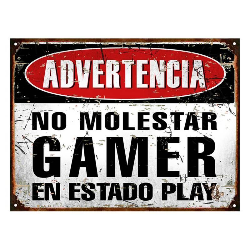 Cartel Gamer Play Station 30x40cm