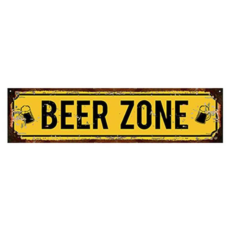 Cartel Beer zone 10x40cm