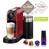 Nespresso - Cafetera express Citiz & milk cherry color exclusivo