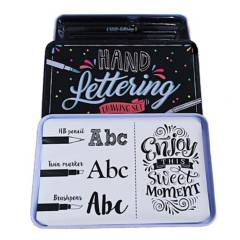 Splash - Set marcadores lettering + estuche de lata