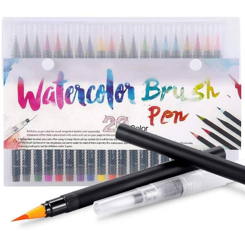 Splash - Set marcadores watercolor brush x 20 uds punta pincel