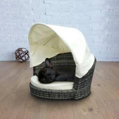 Elegance Jardín - Sillón para mascota 1 cuerpo rattán Simonetta fibra
