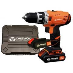 Daewoo - Taladro atornillador 18V + 2 baterías litio