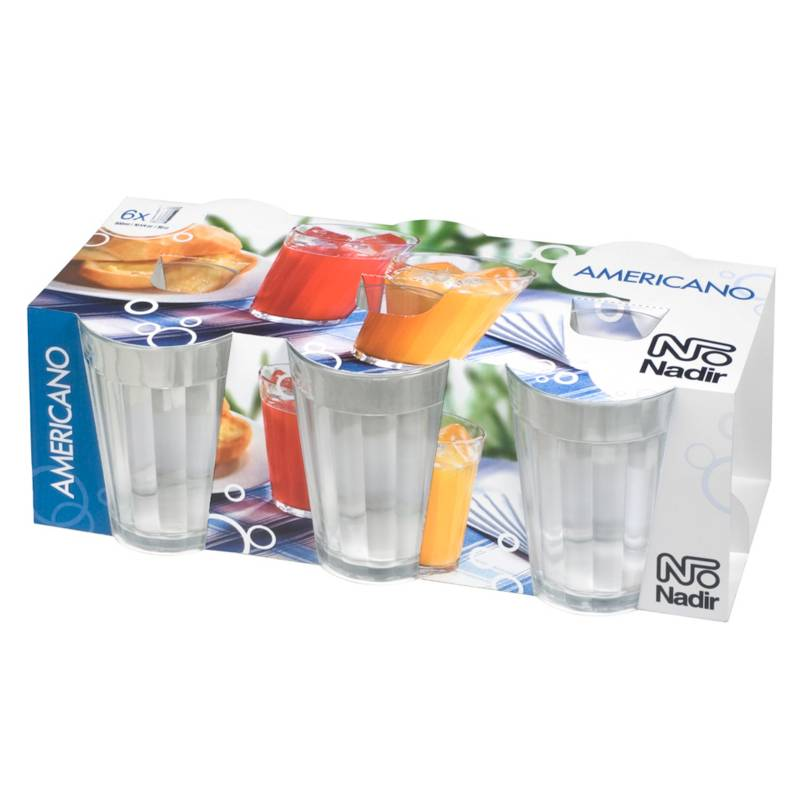 Nadir - Set por 6 vasos americano 300ml