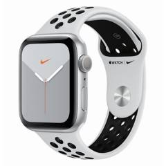 Apple - Apple Watch nike Series 5 GPS 44mm silver/black