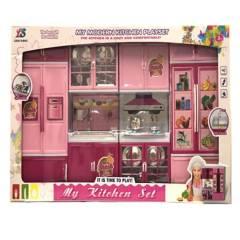 Kinderland - Set de cocina para muñecas con luz y sonido