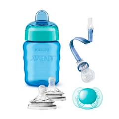 Avent - Vaso infantil 260 ml con accesorios