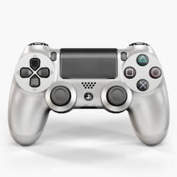Sony - Joystick dualshock 4 plateado