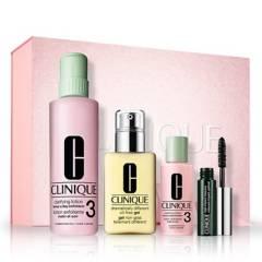 Clinique - Set limpieza + hidratación para piel mixta a grasa + mini máscara de pestañas de regalo