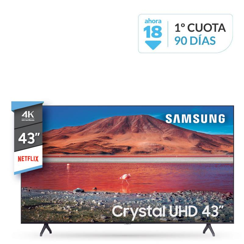 "Samsung - Smart TV 43"" UN43TU7000GCZB 4K Ultra HD"