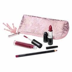 MAC - Set de maquillaje de labios + Cosmetiquera Edición limitada