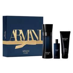 Armani - Cofre Armani Code EDT 75 ml + EDT 15 ml + gel de ducha 75 ml