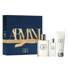 Armani - Cofre Acqua Di Gio EDT 100 ml + EDT 15  ml + gel de ducha 75 ml