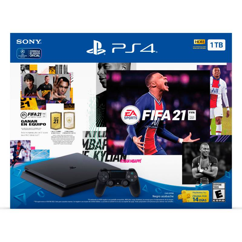 Sony - Playstation PS4 + videojuego FIFA 21