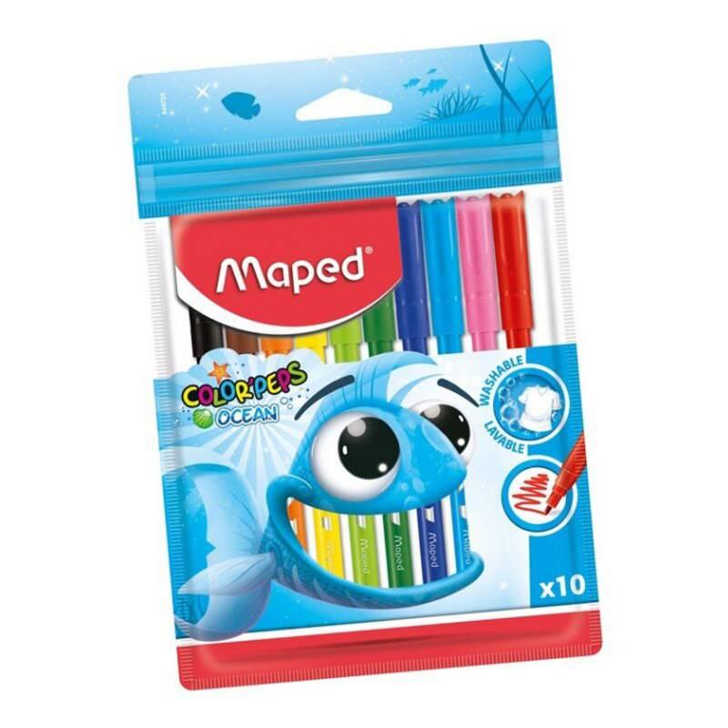 Maped - Marcadores color peps ocean lavables x10
