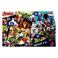 Tapimovil - Averngers Marvel 4 puzzles progresivos 24 30 y 36