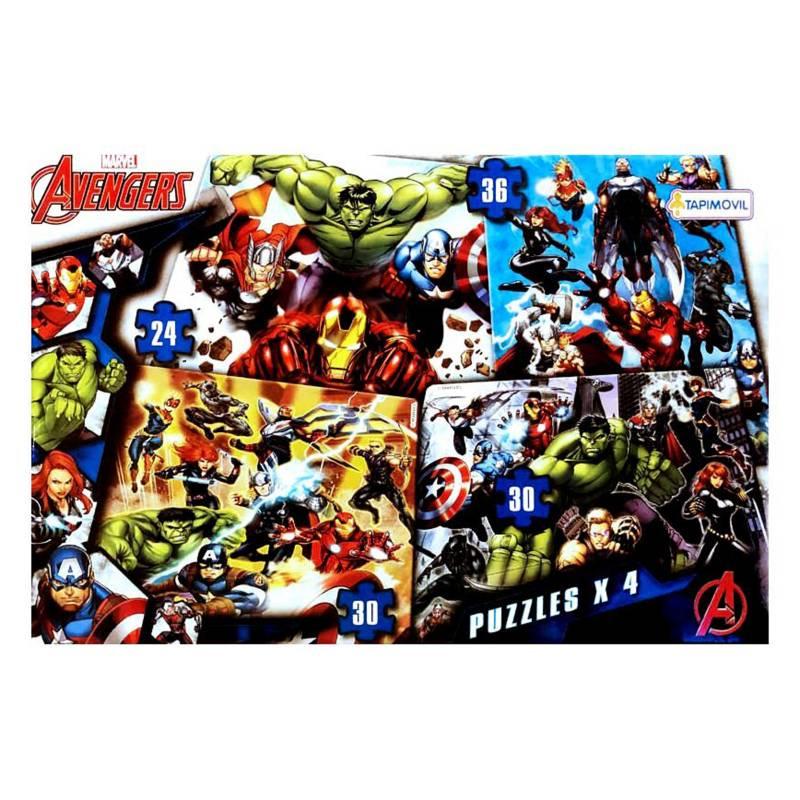 Tapimovil - Averngers Marvel 4 puzzles progresivos 24 30 y 36