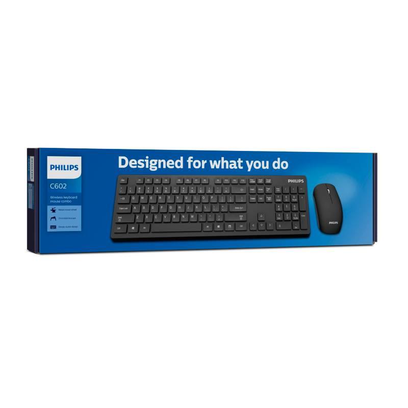 Philips - Combo teclado y mouse inalámbrico SPT6602B