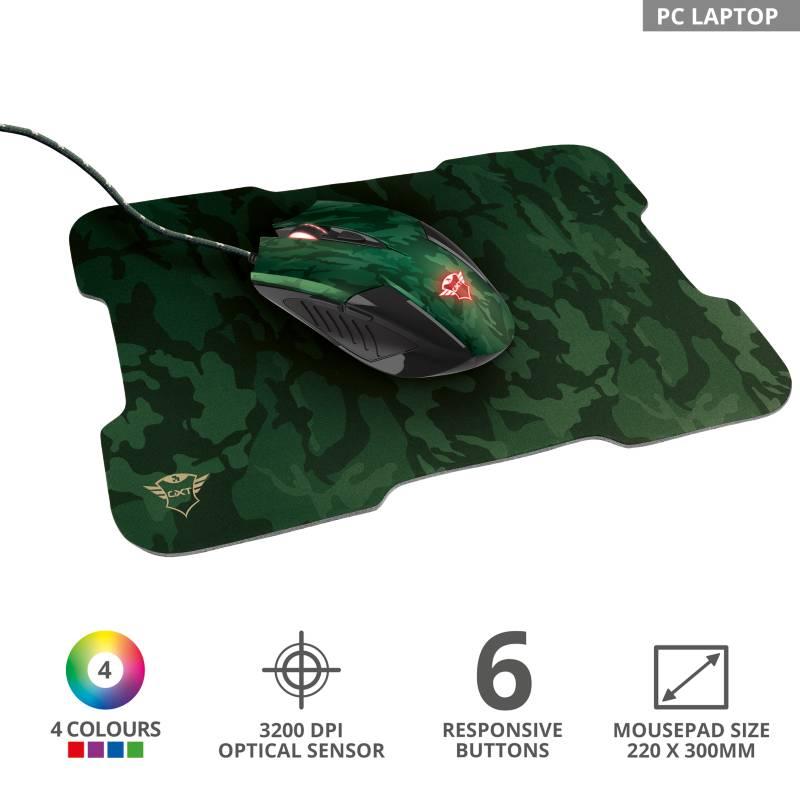 Trust - Set Gamer mouse y pad GXT 781RIXA