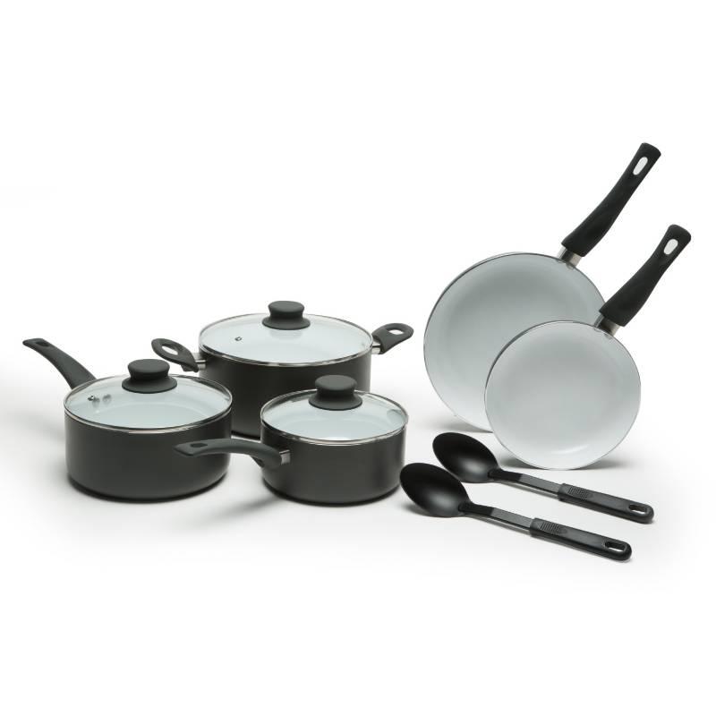 Mica - Batería de cocina Cocción 10 piezas