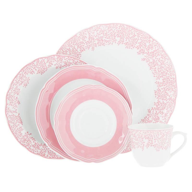 Roberta Allen - Juego de vajilla Alicia porcelana 30 piezas