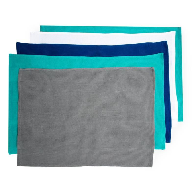 Benetton - Set por 5 repasadores colors 65x43 cm
