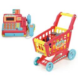 Happy Line - Set de caja registradora y carrito de compras