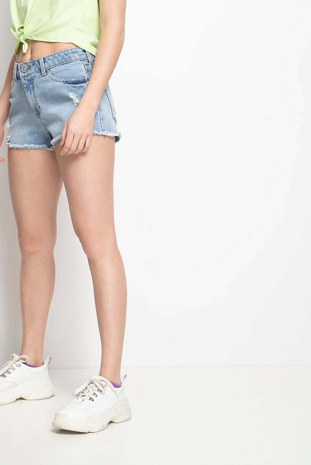 Sybilla - Short de denim con roturas