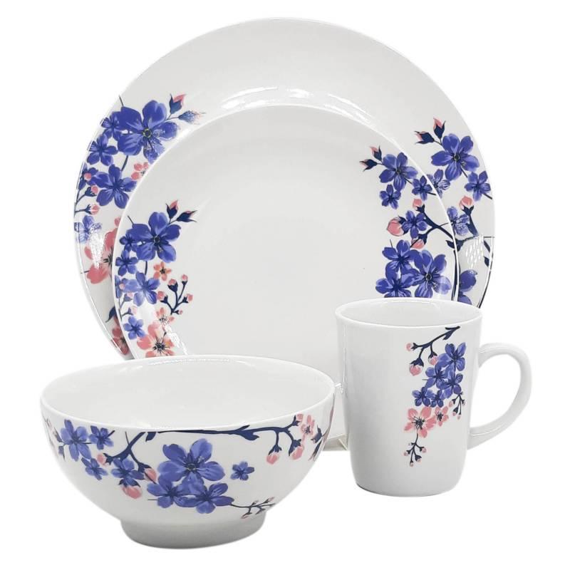 Mica - Juego de vajillas Amalia porcelana 24 piezas