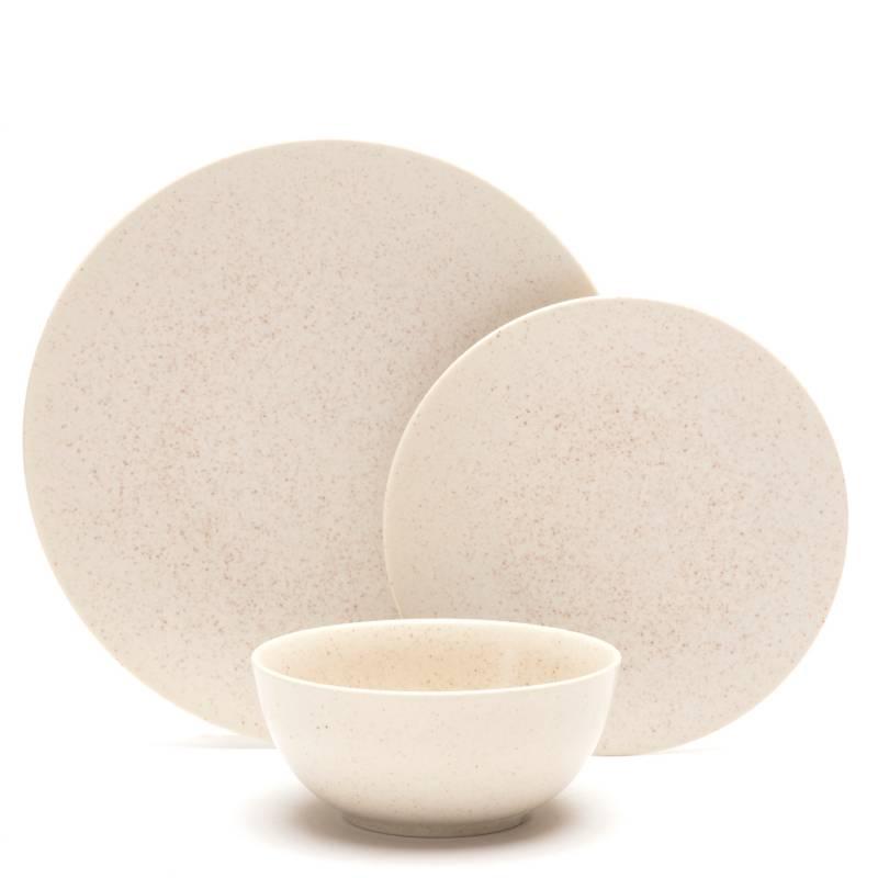 Basement Home - Juego de vajilla Gress porcelana 18 piezas