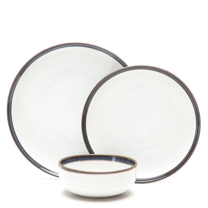 Basement Home - Juego de vajilla Rim porcelana 18 piezas