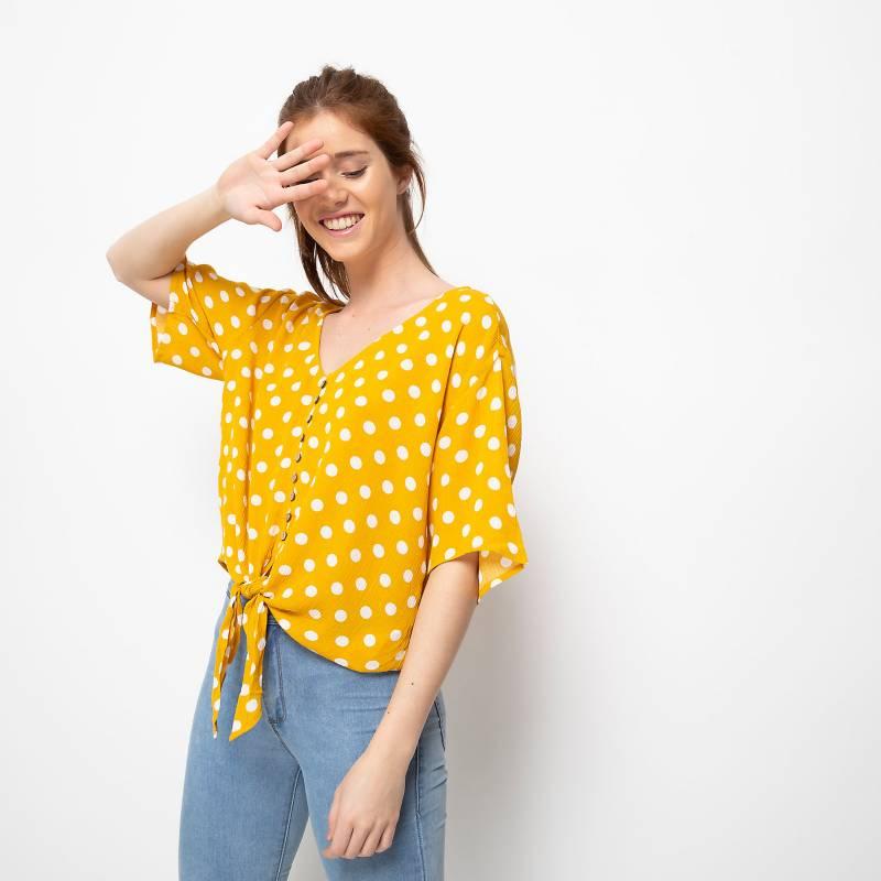 Sybilla - Blusa con botones y nudo