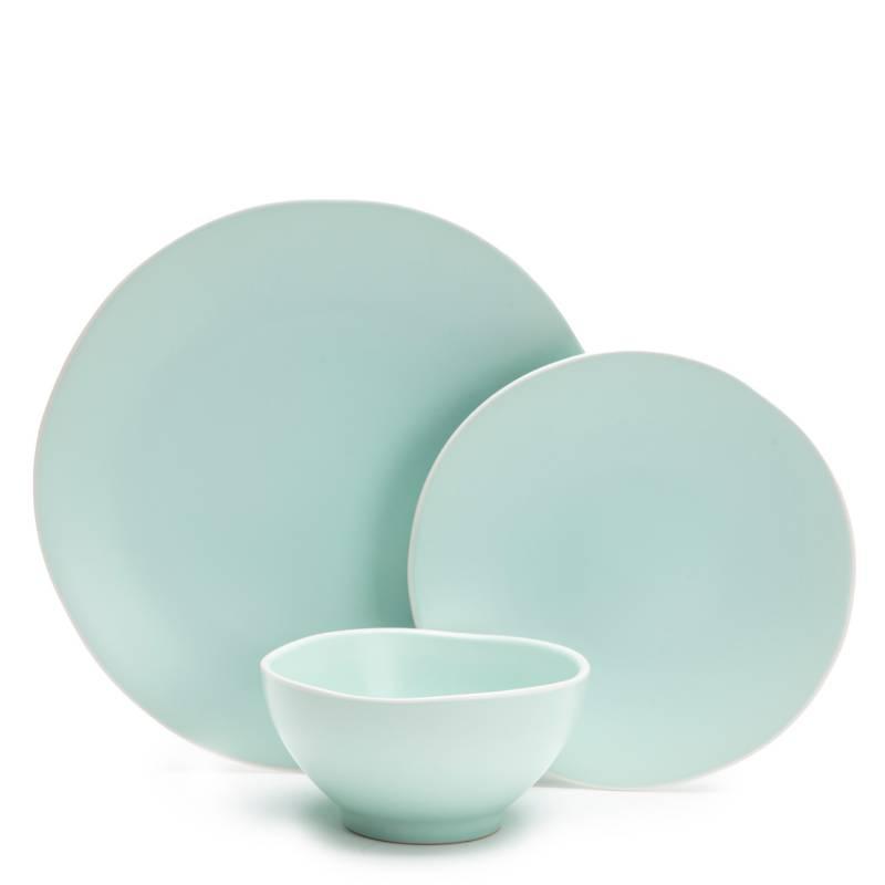 Basement Home - Juego de vajilla porcelana 18 piezas