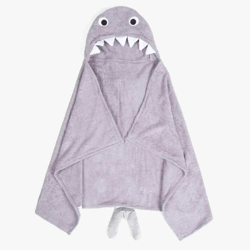 Mica Kids - Poncho de toalla Tiburón 66x115 cm