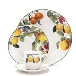 Roberta Allen - Juego de vajilla Frutal porcelana 24 piezas