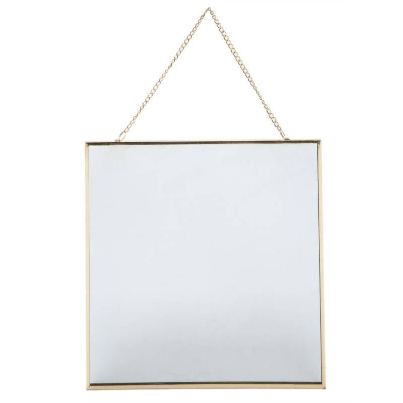 Mica - Espejo de pared Gold 22x22 cm