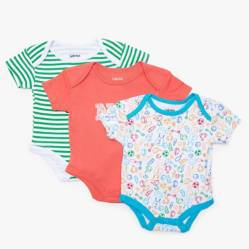 Pack por 3 bodys estampados 0 a 18 meses