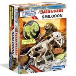 Arqueojugando Smilodon