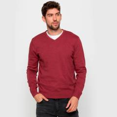 University Club - Sweater básico cuello V