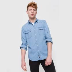 Bearcliff - Camisa lisa Color