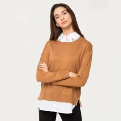 University Club - Sweater con camisa