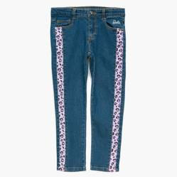 Barbie - Jean con franja animalprint 4 a 8