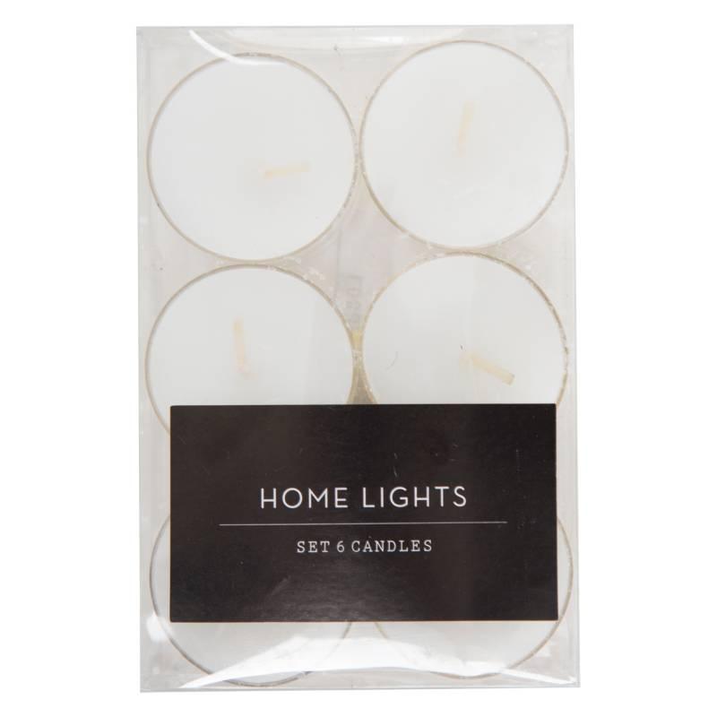 Mica - Set por 6 velas Tealights