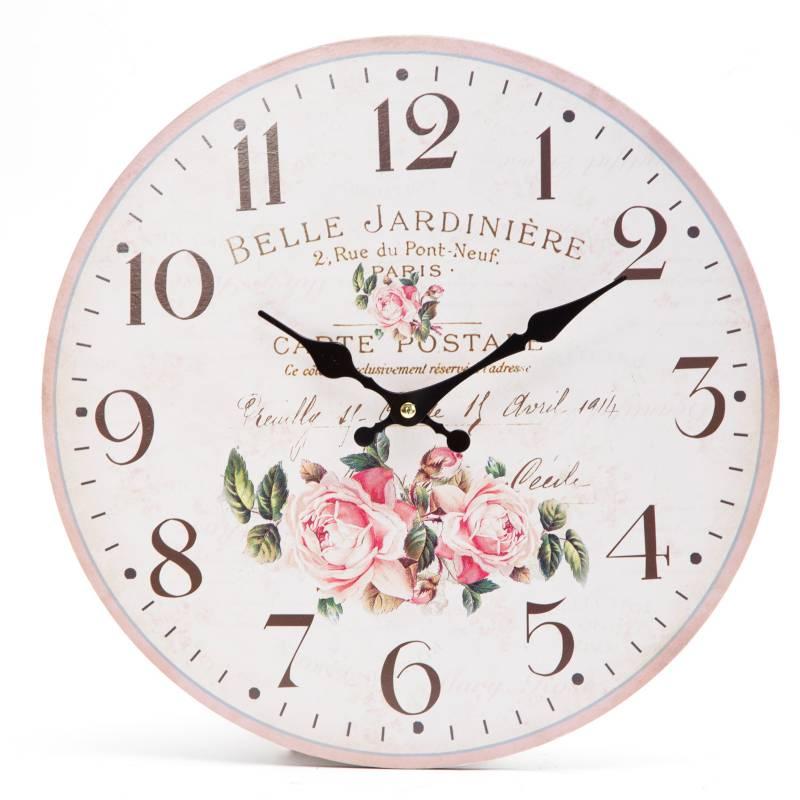 Mica - Reloj de pared Belle Jardiniere 33 cm