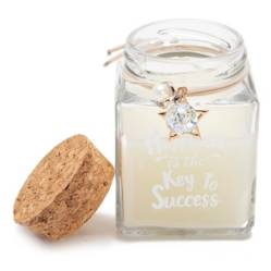 Mica - Vela aromática Happiness is the key to success