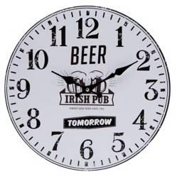 Mica - Reloj de pared Beer Irish pub 33 cm