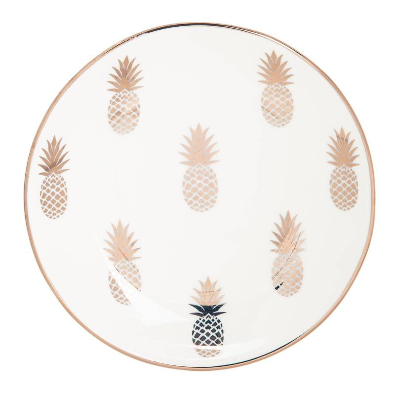 Mica - Centro decorativo pineapple 15x15x2cm