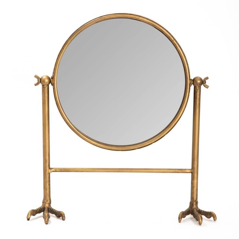 Mica - Espejo redondo 38x32 cm