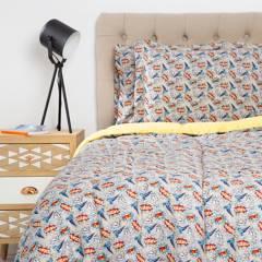 Mica Kids - Juego de acolchado + sábanas Paw
