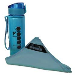 Diadora - Sport pack toalla de microfibra + botella